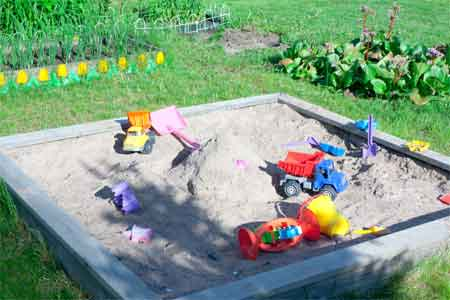 Use Pure Sand for Sandpits