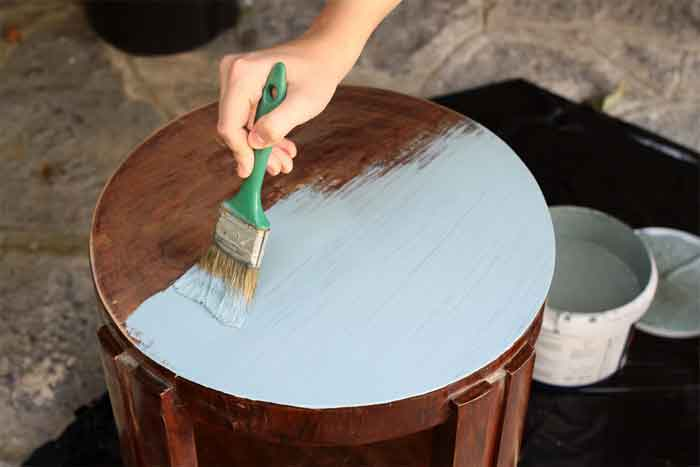 Refinishing Old Furniture with Fabric Accents